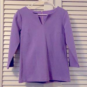 Talbots Purple Textured Blouse Top
